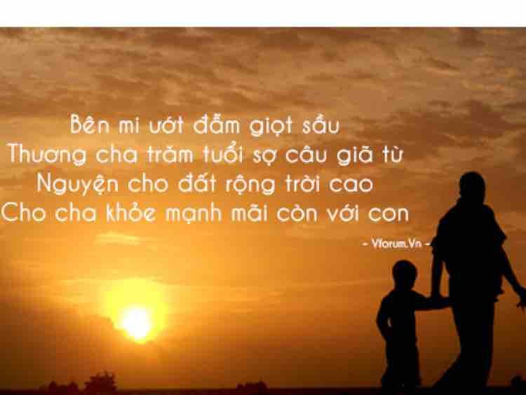 TÌNH CHA / Dung Lê