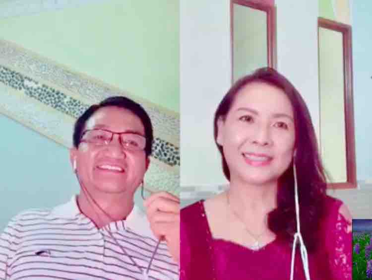 Karaoke NHỮNG ĐỒI HOA SIM - Long Huỳnh ft Dung Lê