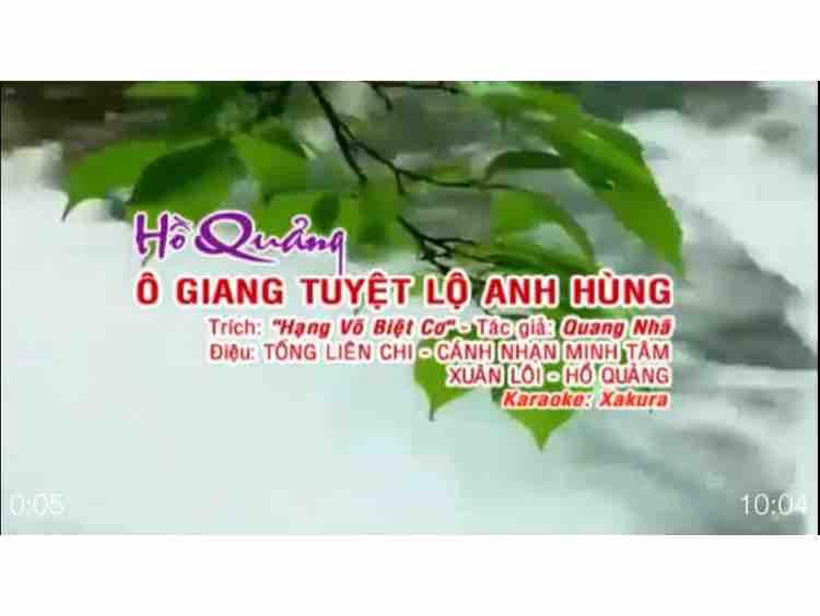 ☄️☄️Ô GIANG TUYỆT LỘ ANH HÙNG☄️☄️
