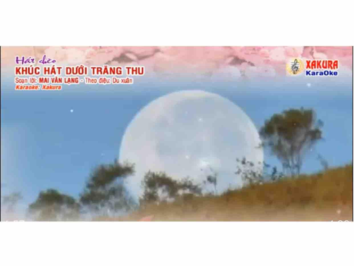 Karaoke [Hát chèo] Khúc hát dưới trăng thu | Điệu: Du xuân
